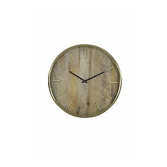 Light & Living Clock 51cm Timaru Wood-Antique Bronze