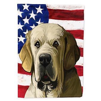 Carolines Treasures  CK6718GF Spanish Mastiff Dog American Flag Flag Garden Size