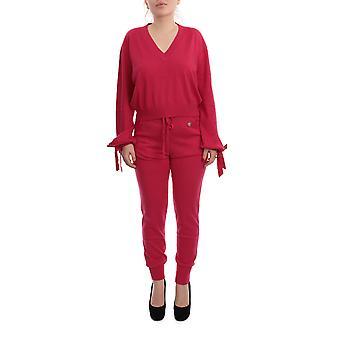 Twin-set 201tp301100470 Damen's Burgund Baumwolle Jumpsuit