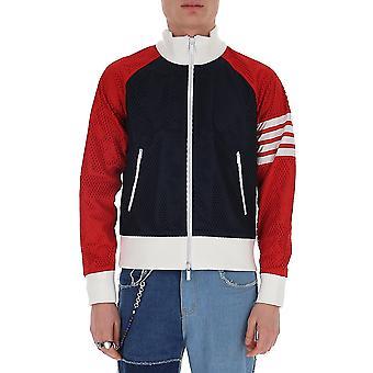Thom Browne Mjt214a03193960 Heren's Blauw Nylon Sweatshirt