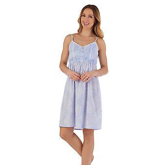 Slenderella ND55210 Dámské's Floral Cotton Nightdress