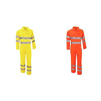 Yoko Hi-Vis Polycotton Coverall / Mens Workwear (Pack of 2)