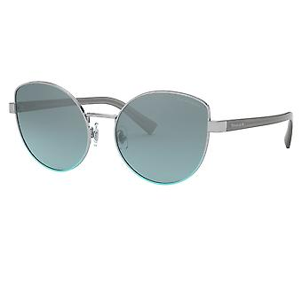 Tiffany Sunglasses Tf3068 61437c 56 Silver Gradient Blue Rounded Ladies Sunglasses