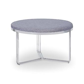 Gillmore Deco - Medium Circular Coffee Table With Various Upholstered Tops And Frame Colour Options
