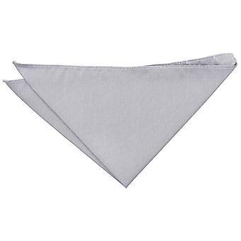 Silver Plain Shantung Pocket Square