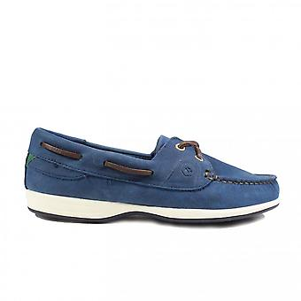 Dubarry Elba Denim Nubuck Leather Womens Lace Up Moccasin Deck Shoes