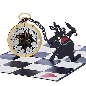 Cardology Alice In Wonderland Pocket Watch Pop Up Card