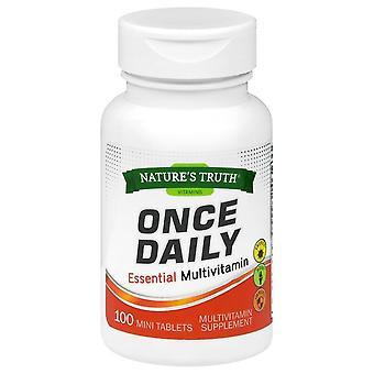 Nature's waarheid ooit dagelijks essentiële multivitamine, mini tabletten, 100 ea