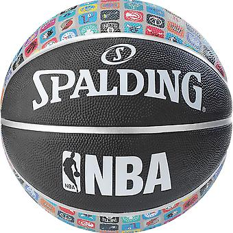 Spalding NBA Team Collection Rubber Outdoor Court Basketball Black