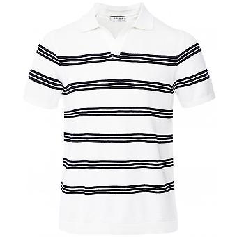 Circolo 1901 Knitted Striped Riviera Polo Shirt