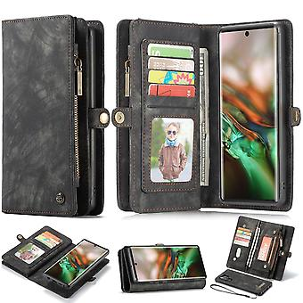 For Samsung Galaxy Note 10+ Plus Case, Wallet PU Leather Detachable Cover, Black