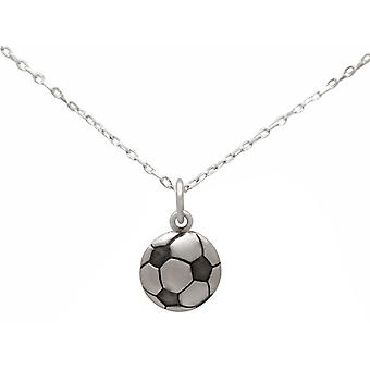 Gemshine necklace football in 925 silver, gold plated or rose, sports jewelry