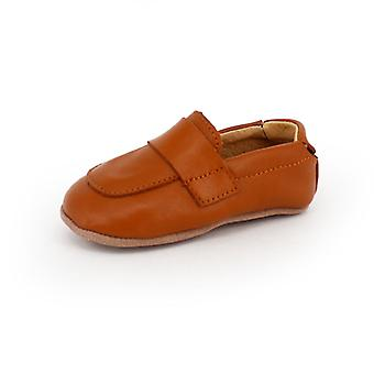 SKEANIE Leather Pre-Walker Loafers Shoes in Tan