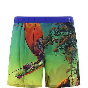 Valentino Tv0uh02868984m Men's Multicolor Nylon Trunks
