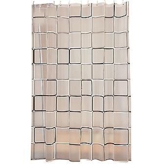 Thickened shower curtain lattice waterproof thickening