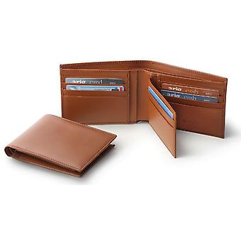 Men's Brown Italian Leather Credit Card Wallet Holder