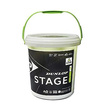 Dunlop Stage 1 Mini Tennis Balls Green 60 Ball Bucket