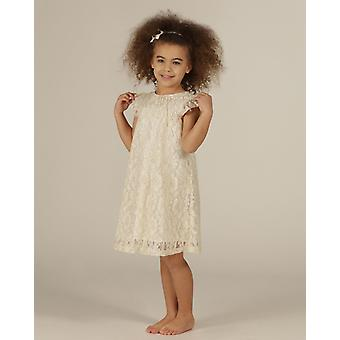 The Essential One Girls Special Occasion A-line Metallic Lace Dress