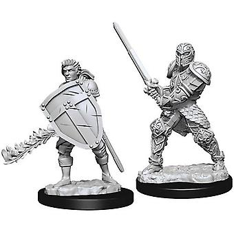 D&D Nolzur's Marvelous Unpainted Miniatures Male Human Fighter (Pack of 6)