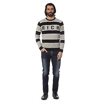 Rich John Richmond Greylightmelange Sweater -- RI81629552