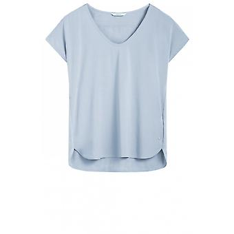 Sandwich Clothing Pale Blue Silky Front Top
