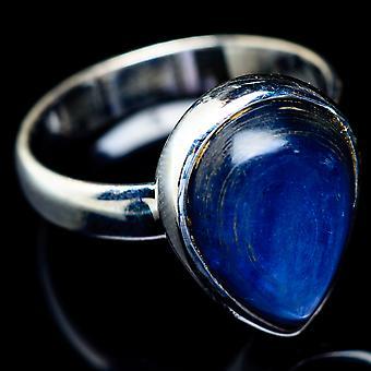 Kyanite Ring Size 7.5 (925 Sterling Silver)  - Handmade Boho Vintage Jewelry RING5647