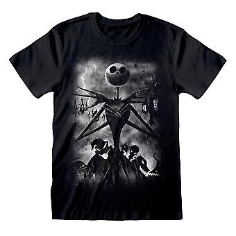 Disney The Nightmare Before Christmas Jack Stormy Skies Men's T-Shirt | Officielle Merchandise