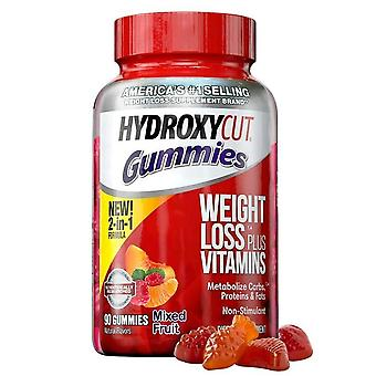 Hydroxycut non-stimulant weight loss, gummies, mixed fruit, 90 ea