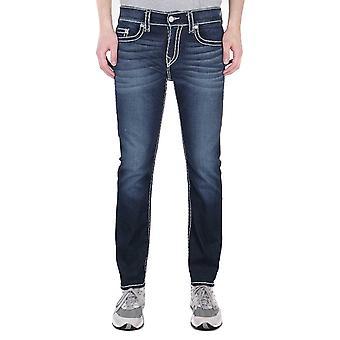 True Religion Rocco Relaxed Skinny Super T Murky Tide Indigo Wash Denim Jeans