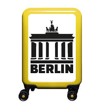 meinTrolley Berlin S, 4 Rollen, 55 cm, 32  L, Gelb