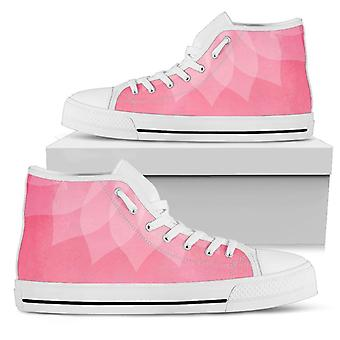 High Top Shoes | Light Pink Graphic
