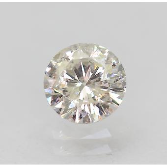 Certified 0.51 Carat H SI2 Round Brilliant Enhanced Natural Loose Diamond 5.11mm