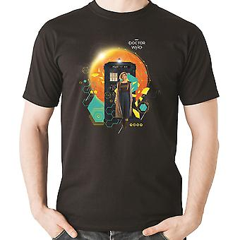 Doctor Who Jodie & Tardis Officiel Tee T-Shirt Mens Unisex