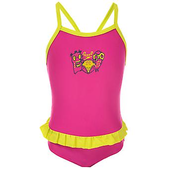 Girl's Speedo Infant Moonset Frill Badedragt i Pink