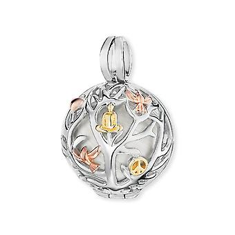 Angel Whisperer Tree Of Life Sterling Silver Rhodium Rose Gold Pearl Chime Pendent ER-20-TREE-M-TRICO