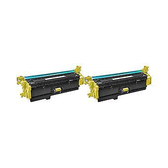 RudyTwos 2 x korvaaja HP 508 X Toner yksikkö keltainen väri LaserJet Enterprise M552dn, M553n, M553dn, M553x, M553dh, yhteensopiva Monitoimilaitteen M577dn, Monitoimilaitteen M577f, virtaus Monitoimilaitteen M577c Flow Monitoimilaitteen M577z
