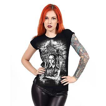 Darkside - wednesday - womens capsleeve t-shirt - black