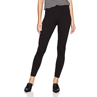 Daily Ritual Women's Ponte Knit Legging, Black, X-Large Long