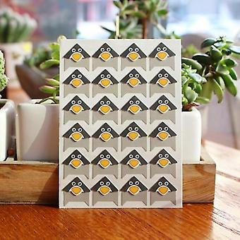 96pcs Diy Cute Animals Corner Paper Stickers para álbum de fotos