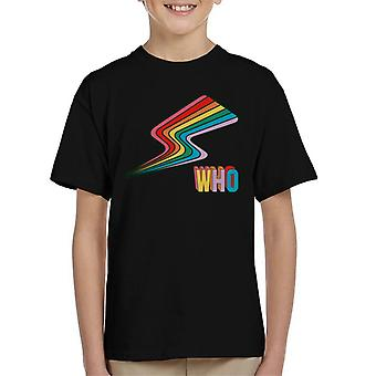 T-shirt do Doutor Who Rainbow flash Kid
