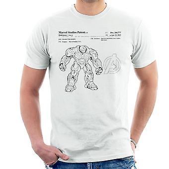 Marvel Avengers Infinity War Hulkbuster Patent Men's T-Shirt