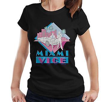 Miami Vice Retro 80's Drawn Logo Women's T-Shirt