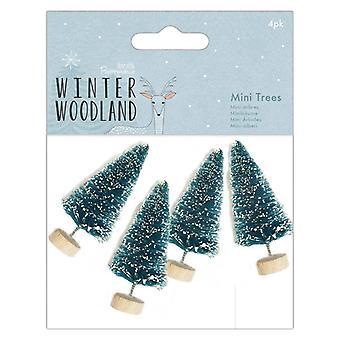 Papermania Vinter Skov Sne Tippet Mini Træer