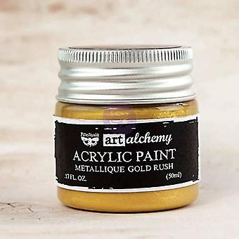 Finnabair Art Alkemia akryyli maali metallinen kulta rush