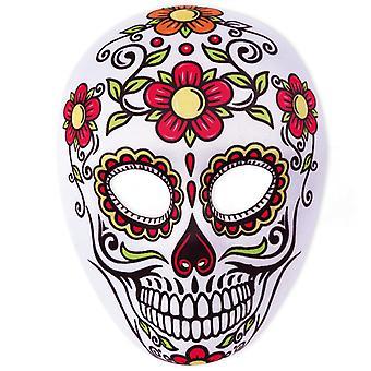 Schedel bloemen masker Mexicaanse dode dag van de dode Mexico half masker