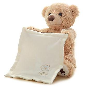 פיקבו דוב מדבר יזיז את הדובון חשמלי קר מעל הפנים ביישן דוב צעצוע קטיפה