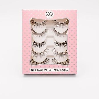 xoBeauty 5 Piece False Lashes Set - The Naturals - Instant Eye Opening Effect