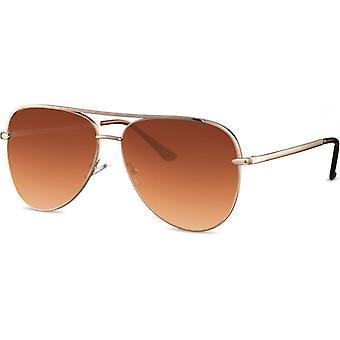 Sunglasses Unisex Pilot gold/brown (CWI1913)