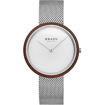 Obaku Trae Steel Silver Tone Men's Wristwatch V245GXCIMC