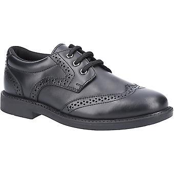 Hush Puppies Boys Harry Junior Leather Brogue School Shoes
